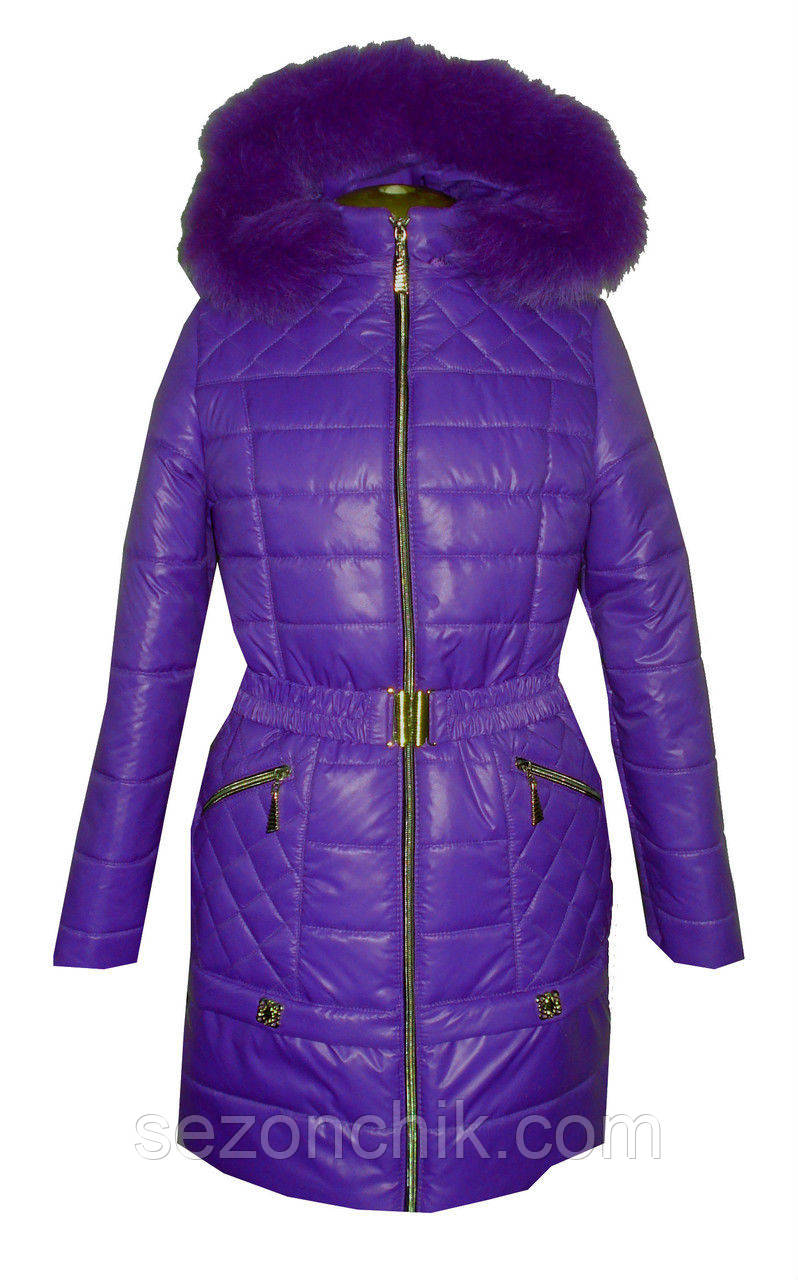 Куртка детская зимняя с мехом для девочки