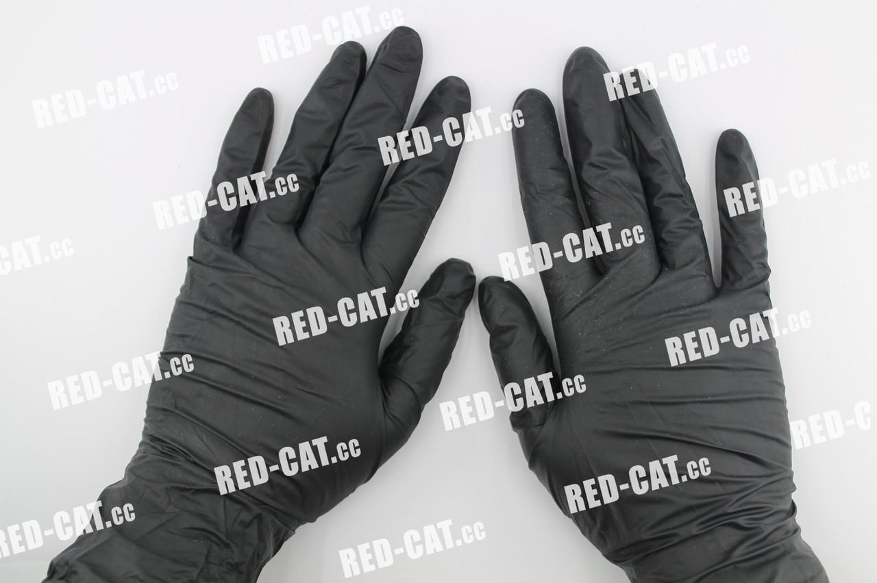 Перчатки нитриловые неопудренные черные