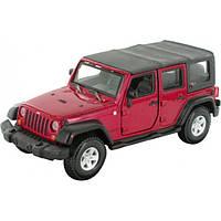 Bburago Авто-конструктор Bburago Jeep Wrangler Unlimited Rubicon (красный, 1:32) (18-45121)