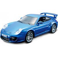 Bburago Авто-конструктор Bburago Porsche 911 GT2 (голубой, красный, 1:32) (18-45125)
