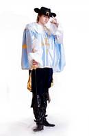 Мушкетер мужской карнавальный исторический костюм упрощенный
