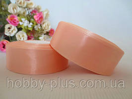 Атласная лента 2,5 см, цвет персиковый