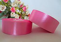 Атласная лента 2,5 см, цвет розовый