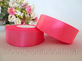 Атласна стрічка 2,5 см, колір рожевий
