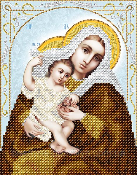 """Схема для вышивки бисером на атласе икона """"Богородица Покрывающая"""""""