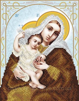 """Схема для вышивки бисером на атласе икона """"Богородица Покрывающая"""", фото 2"""
