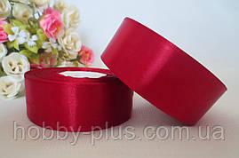 Атласная лента 2,5 см, цвет темно-бордовый