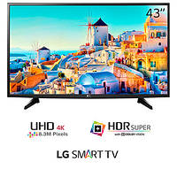 Телевизор LG 43UH6107 (PMI 1200Гц, Ultra HD, 4K Display, Smart, HDRPro TrueBlack, DVB-T2/S2)