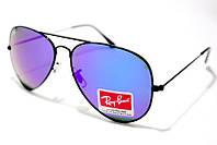 Солнцезащитные очки Ray Ban Aviator Стекло 3026 B36 SM 01192 с фиолетовыми линзами и чёрной оправой