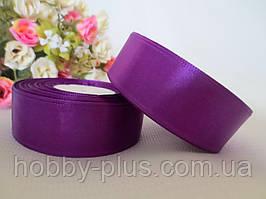 Атласна стрічка 2,5 см, колір фіолетовий