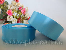 Атласная лента 2,5 см, цвет светло-голубой