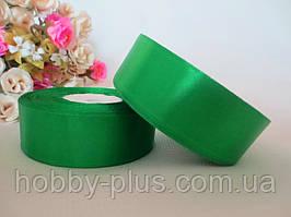 Атласна стрічка 2,5 см, колір насичено-зелений