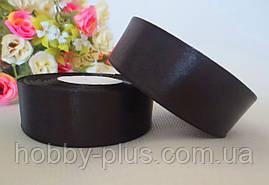 Атласная лента 2,5 см, черный