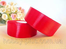 Атласна стрічка 2,5 см, колір бордовий