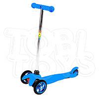Самокат трехколесный детский Синий Красный Зеленый Скутер