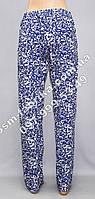 Женские брюки с цветочным принтом высокого качества