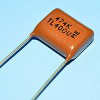 Конденсатор металлопленочный CL-21  0.47µF 400V(TL) ±10%  Samwha