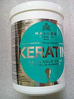 Маска Kallos Keratin увлажняющая и питающая поврежденные сухие волосы, 1 л