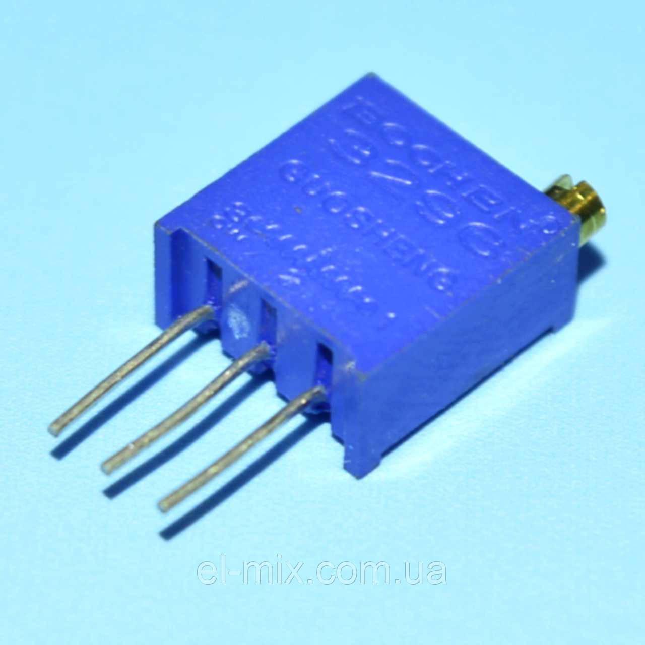 Резистор подстроечный многооборотный  3296W 1.0MOm  Китай