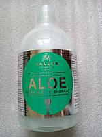 Шампунь Kallos Aloe питательный для лишенных объема волос, 1 л