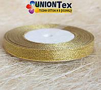 Лента парча 1 см золото