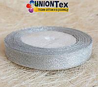 Лента парча 1,25 см серебро