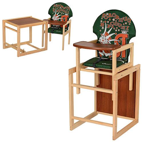 Стульчик-трансформер для кормления деревянный Vivast М V-010-22-4