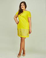 Ярко желтое платье простого фасона