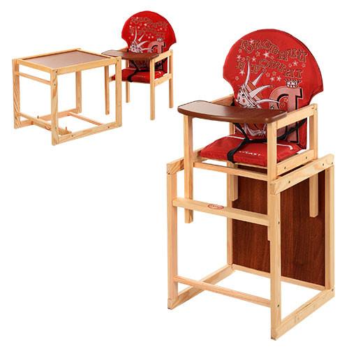 Стульчик-трансформер для кормления деревянный Vivast М V-010-21-4
