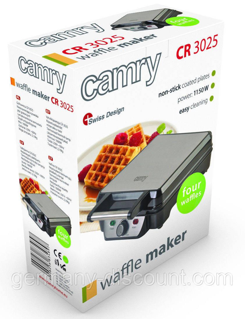 Вафельница для бельгийских вафель Camry  1150 Вт