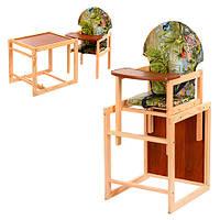 Стульчик-трансформер для кормления деревянный Vivast М V-002-5