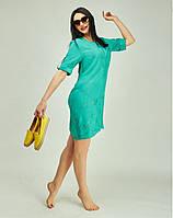Повседневное платье с удлиненной спинкой