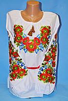 Нарядная вышитая женская блуза с маками