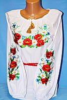 Прекрасная подростковая блуза для девочки с вышивкой