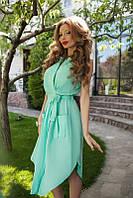 Легкое платье с поясом на запах