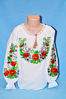 Оригинальня вышитая блуза для девочки
