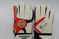 Перчатки вратарские FB-3762-03 MANCHESTER (PVC, р-р 8, 9, 10, красный-черный-белый)