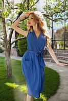 Женское платье с карманами под пояс