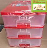 Комод пластиковий канцелярська А4, бежевий, фото 4