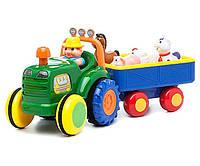 Игровой набор Трактор Фермера с животными (на колесах, свет, озвуч. рус. яз.) Kiddieland