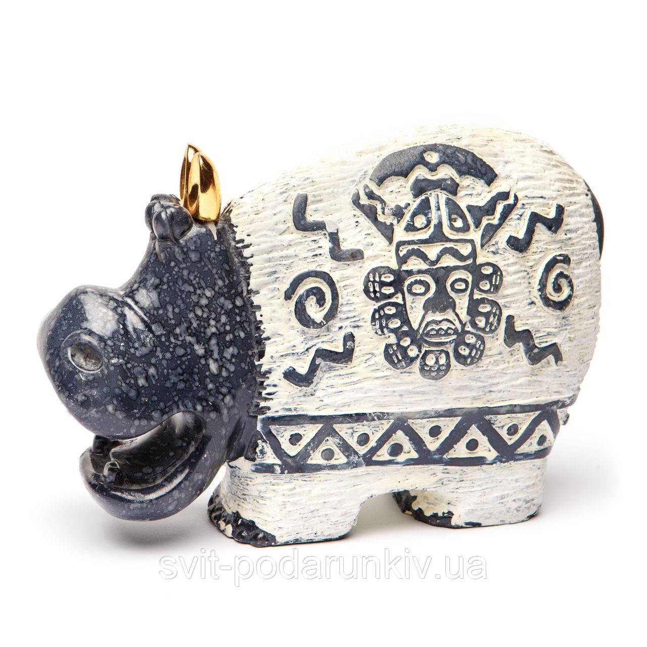 Статуэтка бегемота фигурка с декором (37503,37504,37505,37506) B