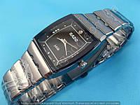 Часы Rado Jubile 114007 женские прямоугольные темная сталь со стразами