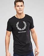 Футболка Fred Perry чёрная белый лого