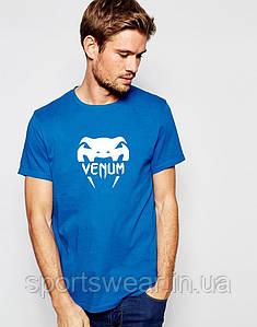 """Футболка Веном  Venum  голубая белый принт """""""" В стиле Venum """""""""""