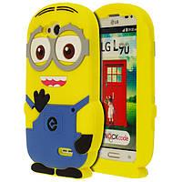 Чехол силиконовый Despicable Me Minions 3D для LG L90 D405 D410