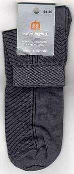 Шкарпетки чоловічі х/б з сіткою Місюренко, М11В111П, 25 розмір, середні, темно-сірі, 02290