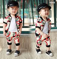 Летний костюм Mickey Mouse для мальчика. 130 см