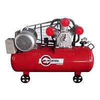 Компрессор 300л, 15HP, 11кВт, 380В, 8атм, 1600л/мин. 3 цилиндра Intertool PT—0050