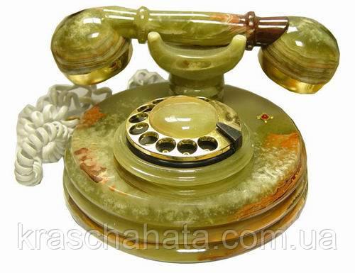 Телефон Ретро, D 25 см, натуральный камень, Оникс, Подарки, Днепропетровск