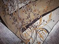 Платок шелк в цветах